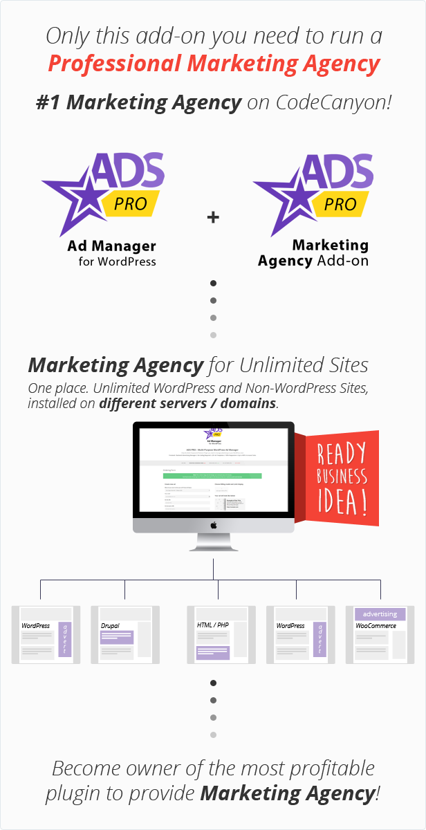 ADS PRO - WordPress Marketing Agency Add-on